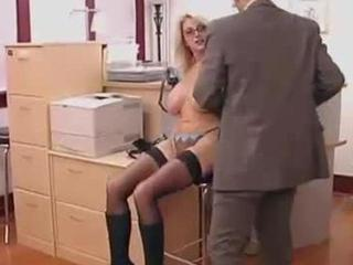 big titted secretary gets fucked at work