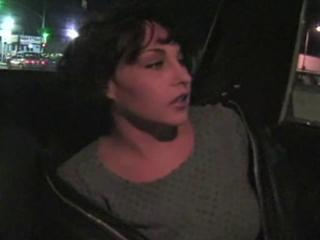 Peris Bleau enjoys a cab ride