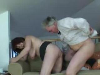 older couple having sex at home