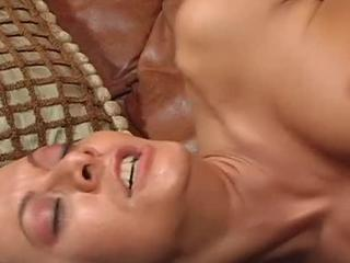 Kinky Brunette Does Fellatio & Pounds Shaft
