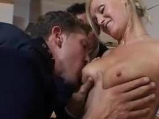 horny secretary gives her boss a blowjob