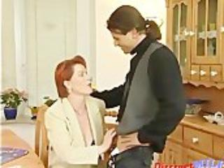 German Old MILF Gets Warm Facial Load